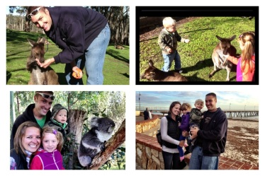 The Fam with Roo's and Koalas, and the S. Australia Beaches