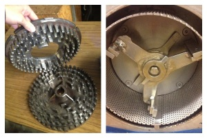 Disc Crusher on left, Hammer Mill Crusher on right